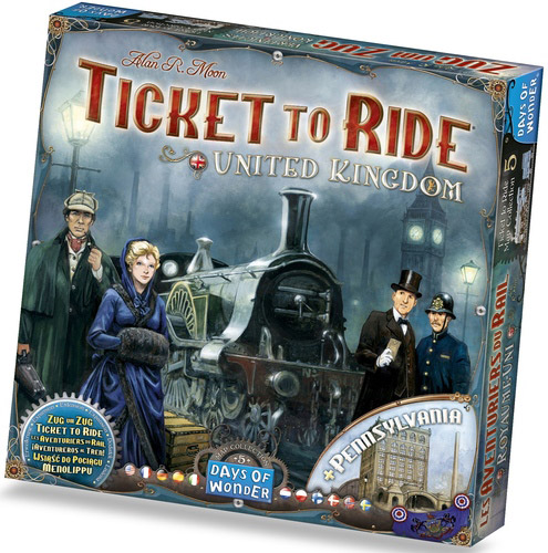 Map Collection 5 Ticket to Ride United Kingdom