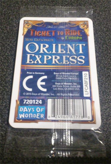 Verpakking mini uitbreiding Ticket to ride Orient Express