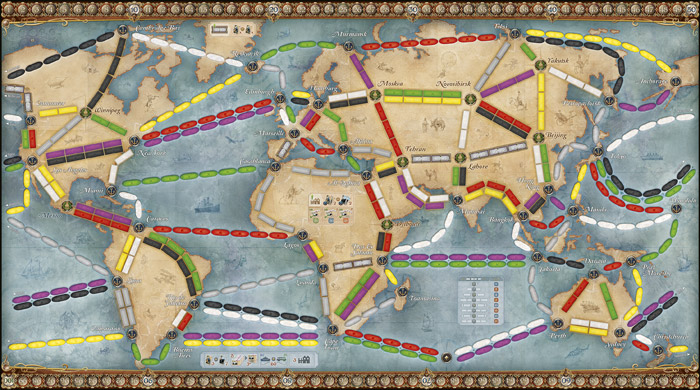 World game board T2R Rails and Sails